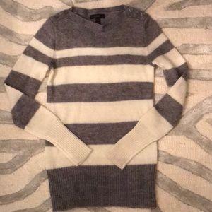 J Crew Striped Boatneck Sweater